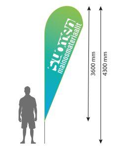 Beach Flag pisara XL.
